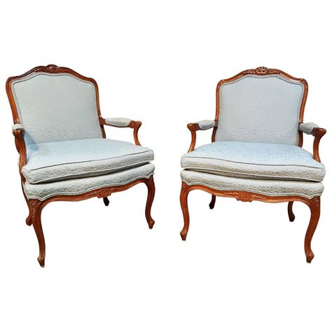 Bergere Chairs For Sale by Pair Of Louis Xv Style Bergere Lounge Chairs For Sale At