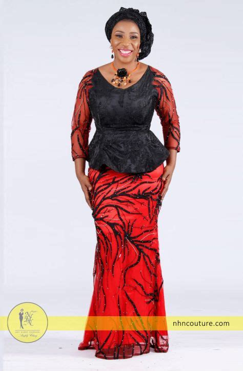 nhn couture cord lace nhn couture dressing with red asoebi style inspiration 1