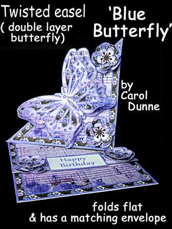 Butterfly Easel Card Template by Twisted Easel Kit Blue Butterfly Cup615755 173