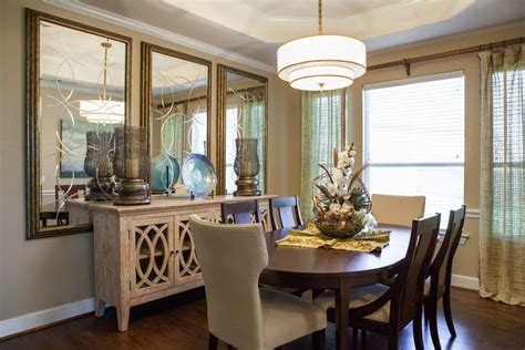 wall mirrors for dining how to combine sideboards with wall mirrors