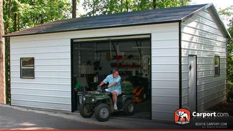 one car garages metal building 18 x 26 one car garage shop metal
