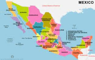States In Mexico Map free mexico states map states map of mexico mexico