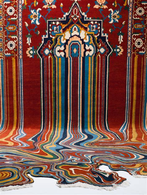 tappeti rugs ahmed creates glitched out contemporary rugs from