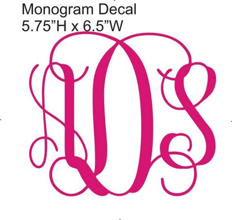 printable monogram stickers vinyl car monogram sticker vine font