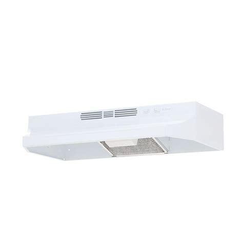 home depot hood fans nutone rl6200 30 in non vented range hood in white