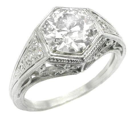 edwardian 1 59 carat platinum ring for sale at 1stdibs