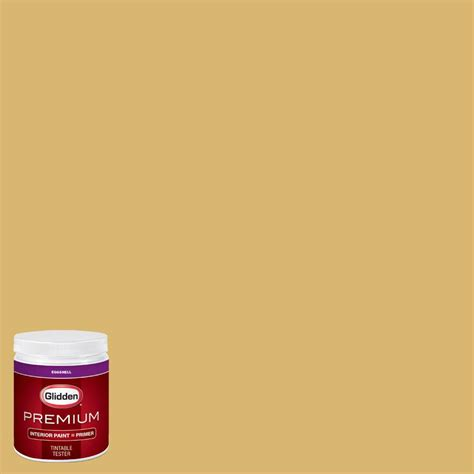 glidden premium 8 oz hdgy47 dusty gold eggshell interior paint with primer tester hdgy47p 08en