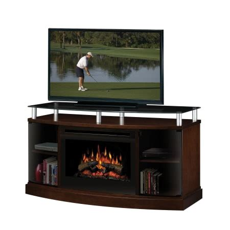 console log apply dimplex windham media console with electric log fireplace