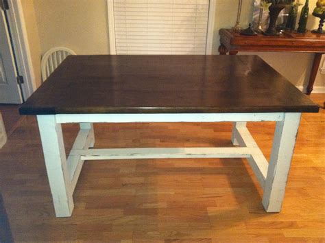 Farmhouse Dining Table White Farmhouse Dining Table Diy Projects