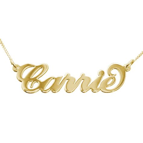 personalized gold jewelry personalized jewelry 10k gold quot carrie quot necklace mynamenecklace