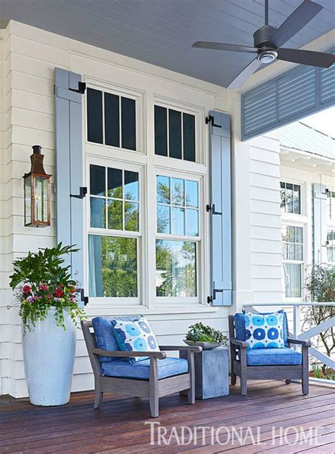 what does a blue porch light fresh summer looks on modern shutters