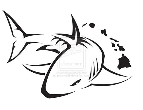 tribal great white shark tattoo tatuagens projets 224 essayer great white