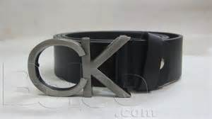 New exclusive calvinklein ck logo buckle black leather belt with box