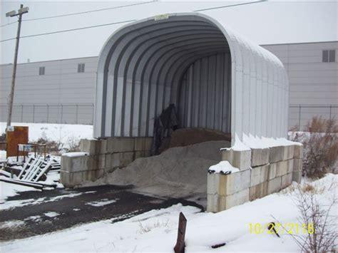 salt storage buildings  road salt  sand dry