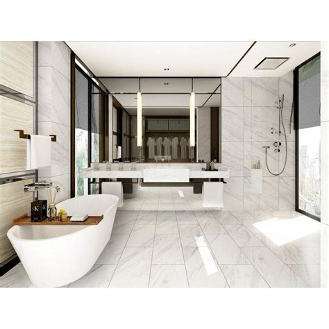 2 69 sf volakas plus polished porcelain tile 12in x