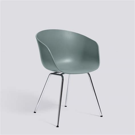 About Chair by Hay About A Chair Aac26 Dusty Blue Chrome Base Stoel