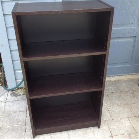 3 shelf bookcase ikea ikea 3 shelf wooden bookcase black brown colour saanich