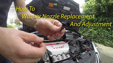 Dispenser Navara windshield washer nozzle replacement adjustment