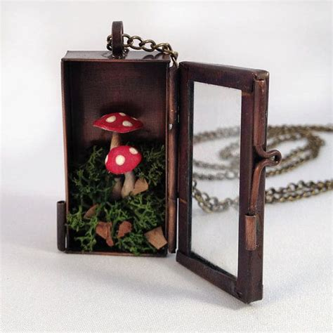 Handmade Shadow Boxes - handmade terrarium shadow box necklace locket