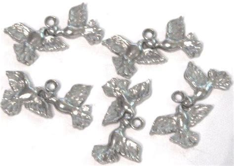 5 peace dove with pewter charms wholesale lot