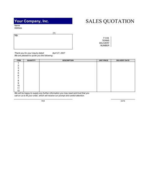 Sales Quotation Template3 Pdf Google Sheet Excel Format E Database Org Excel Quotation Template With Database