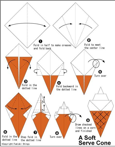 How To Fold A Cone Out Of Paper - cone origami