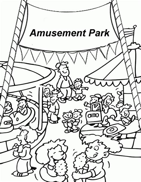 park coloring page coloring home