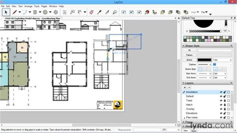 sketchup layout object snap exploding model objects