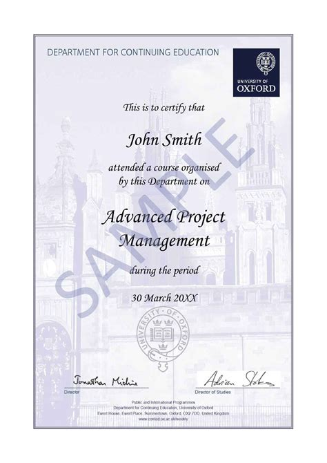 Lse Mba Distance Learning by Advanced Project Management Oxford Department