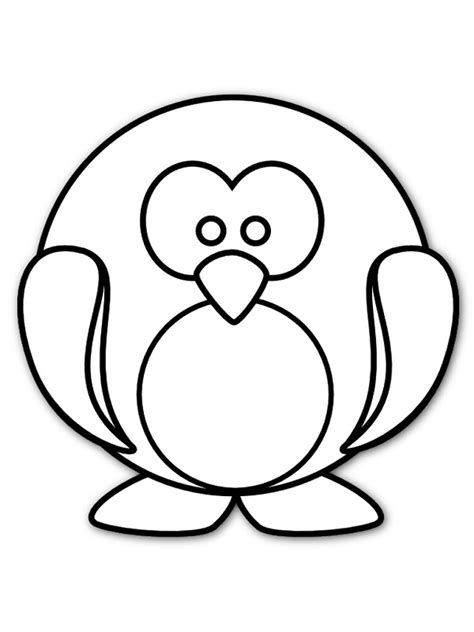 penguin coloring page pdf cute penguin cartoon pictures cliparts co