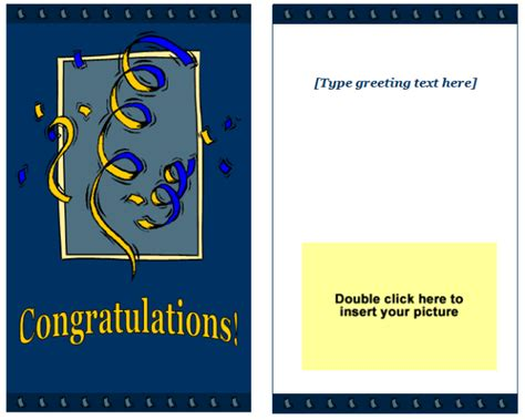 amazing of blank greeting card template microsoft word templates for