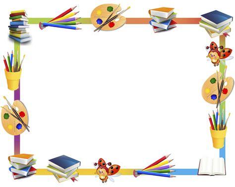 imagenes de utiles escolares para inicial marcos escolares en png imagui