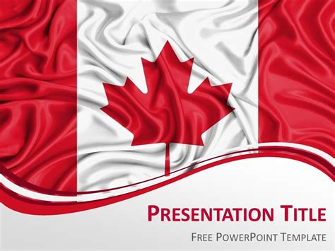 Canada Flag Powerpoint Template Presentationgo Com Canada Flag Template