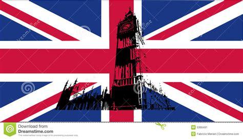 coloring page united kingdom flag uk flag with big ben stock image image 5366491