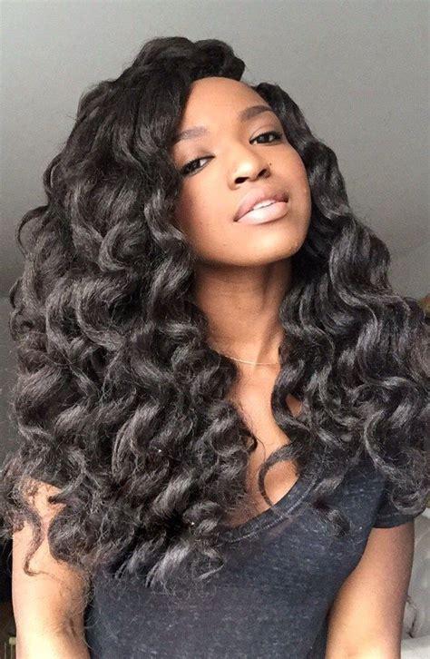 loose waves plaits for women loose curls crochet braid pinterest loose curls