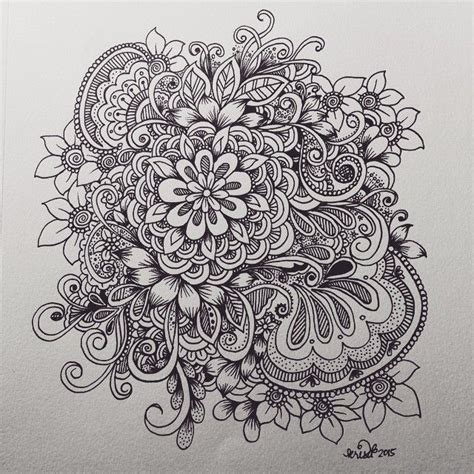 best doodle flower doodles www pixshark images
