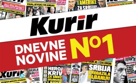 dnevne novine broj jedan: kurir najčitaniji u srbiji kurir