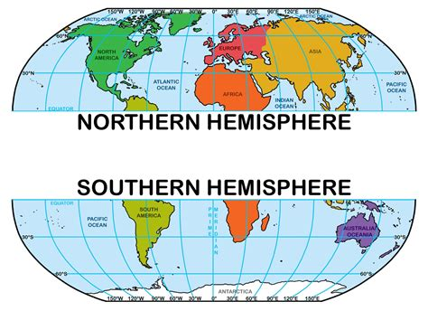 northern  southern hemisphere map  travel