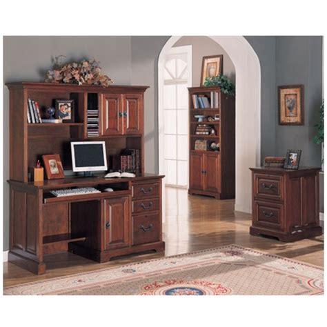 Home Office Desk With Hutch Mahogany Finish Home Office Computer Desk With Hutch In Rich Mahogany