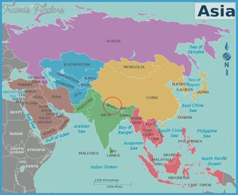 nepal world map nepal map travelsfinders