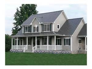 2 Story Farmhouse Plans by Farmhouse Plans Two Story Farmhouse Plan With Wrap