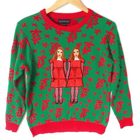 the shining twins tacky ugly christmas sweater the ugly
