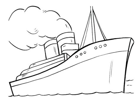 dibujo barco titanic para colorear titanica pagina para colorear para para titanic para