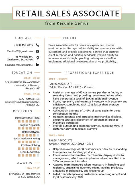 sales associate cashier resume samples visualcv resume samples