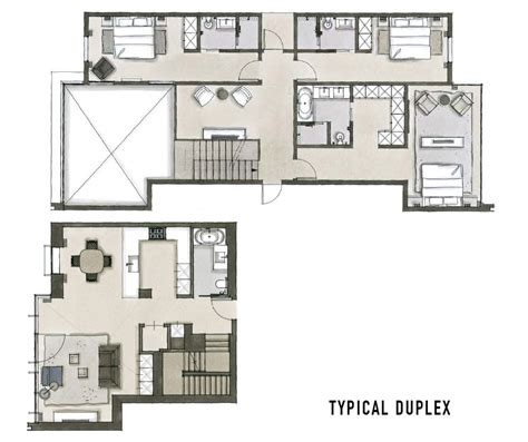 multiplex housing plans small plan de maison duplex 4 chambres