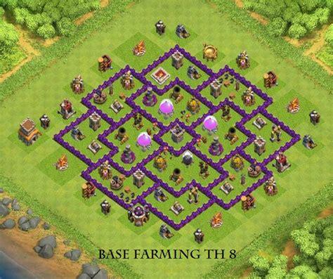 coc war base th8 hd base farming th8 game