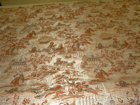 Colonial Upholstery Fabric by Vintage Upholstery Craft Fabric Tapestry Colonial Toile
