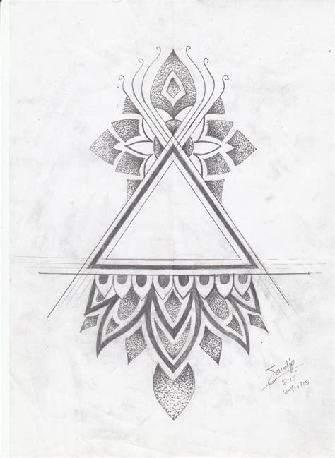 tattoo tribal triangle the 25 best triangle tattoo design ideas on pinterest