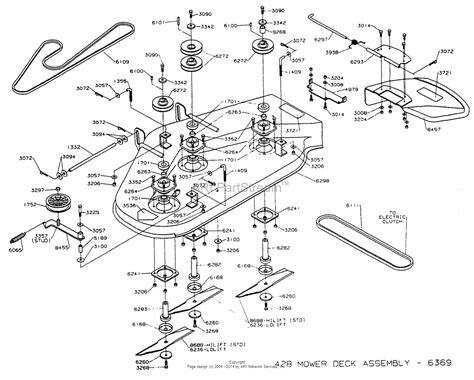 zero turn mower parts diagram dixon ztr 428 1993 parts diagram for mower deck assembly