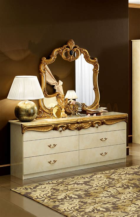 barocco bedroom set barocco bedroom set in ivory gold 3 186 00